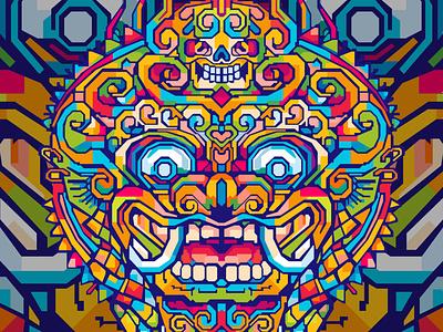 BARONG commission open geometric art illustration art barong tshirt design tshirts tshirt art abstract design design illustration colors colorful abstract art popart geometric beautiful abstract wpap