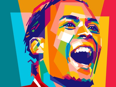 virgil van dijk soccer football sports sport collage design illustration abstract design colors colorful abstract art popart geometric beautiful abstract wpap