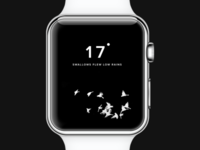 Apple Watch Weather UI