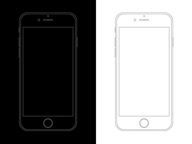 Minimal Le Iphone 6s Templates Adobe Photo Psd File White Black