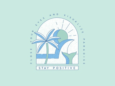 Stay Positive hawai graphic paradise ocean beach stay positive vector illustration vectorart illustration art illustrations 2d vector design illustration