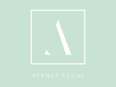 Atenea Legal illustration vector logo design branding 2d