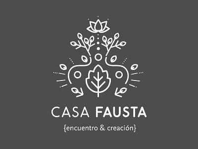 Casa Fausta illustration vector logo design branding 2d