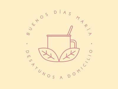 Buendo Días María illustration vector logo design branding 2d