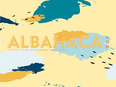 Albahaca NOW! art colors salad vector logo design branding 2d