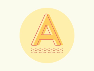 Isotype for Albahaca Now waves yellow logo isotype illustration vector logo design branding 2d