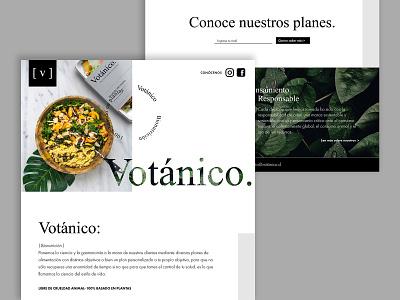 Landing Page Votánico landingpage website branding