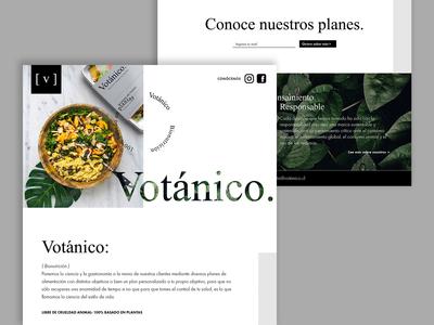 Landing Page Votánico