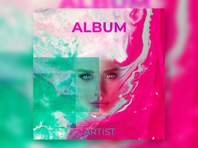 Liquid Colour Album Cover by Conor Clarke on Dribbble