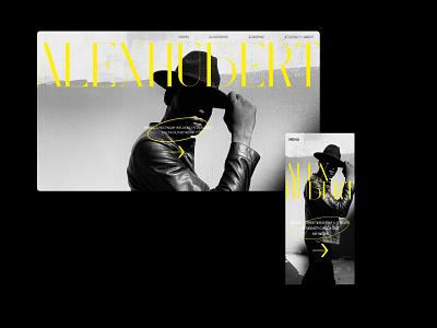 Street wear influencer blog influencer website typography design ux ui
