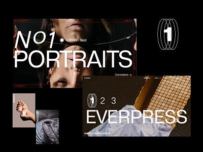 Folio art direction big type ux icon typography design website
