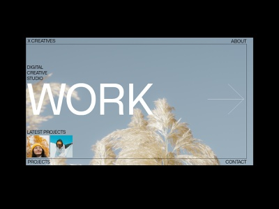 Portfolio navigation typogaphy portfolio typography ui website design