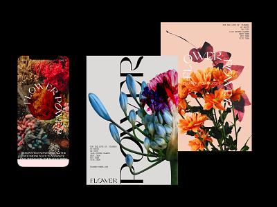 Flower Power flower ux ui typography website branding