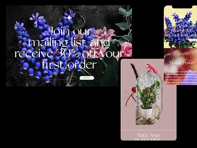 Flower Power flower illustration ux typography branding ui website design