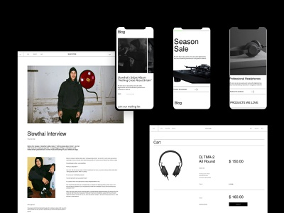 Music Store music website ui ux ecommerce theme shpofy