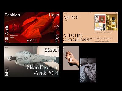 Editorial moodboard typography website design