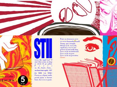 Illustration type typography illustration