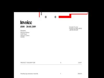 Invoice design branding