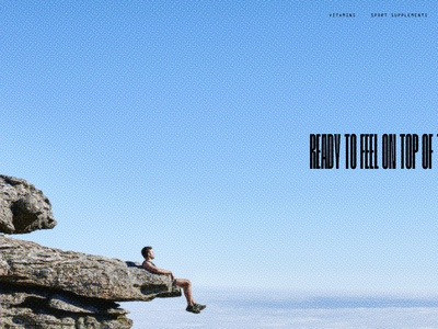 Supplements shop homepage concept web design