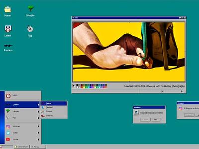 Titel Mag homepage ux website ui