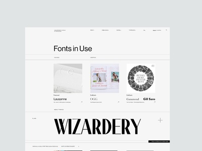 Fonts in use redesign concept