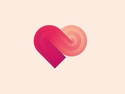LUV vector logo illustrator illustration design lovely branding heart love