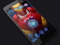 Super ironman lockscreen animation design