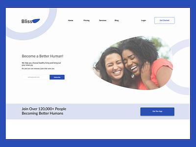 Landing Page - DailyUI 003 ui design dailyuichallenge dailyui
