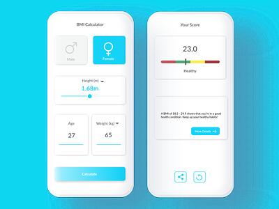 BMI Calculator - Daily UI 004 ui design dailyuichallenge dailyui