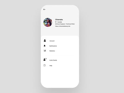 User Profile - Daily UI 006 ui design dailyuichallenge dailyui