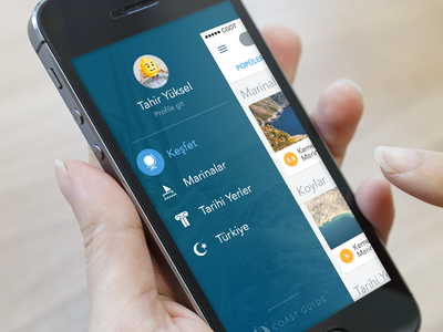 Coast Guide of Turkey ux ui mobile web iphone ios