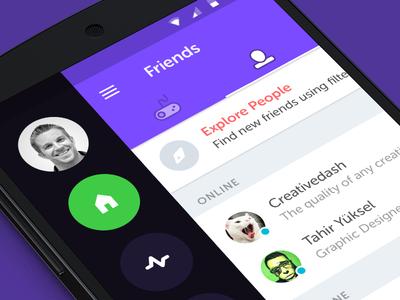 Gamer Community ux ui mobile design material android