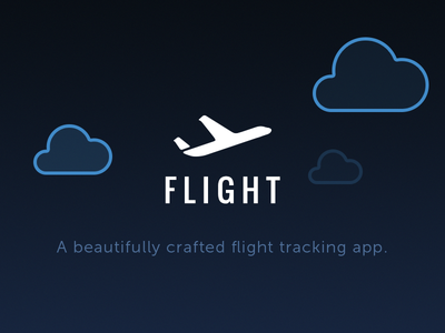 F L I G H T landing web ux ui mobile iphone ios