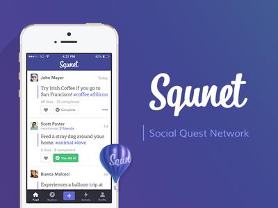 Squnet landing web ux ui mobile iphone ios