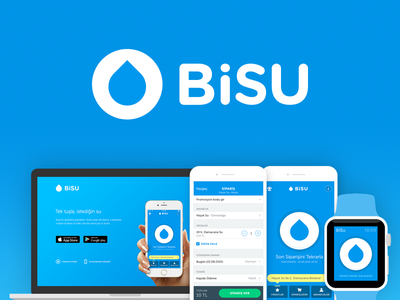 BiSU landing web ux ui mobile material android watch iphone ios