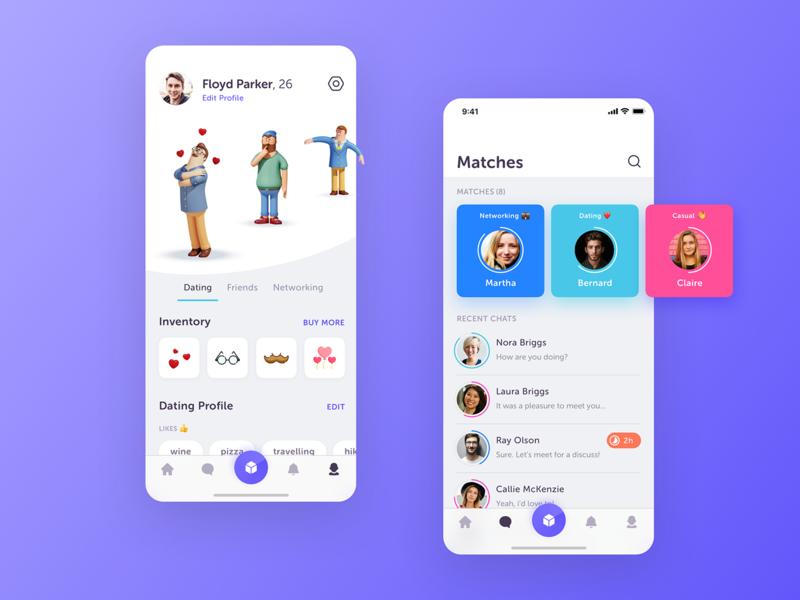 IceBreakerAR - Social Networking App social network app concept design iphone ios ui mobile