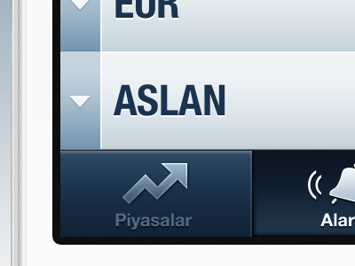 Tab Bar interface ux ui design user interface ui design ux design finance graph blue alarm doviz icon mobile iphone application app ios