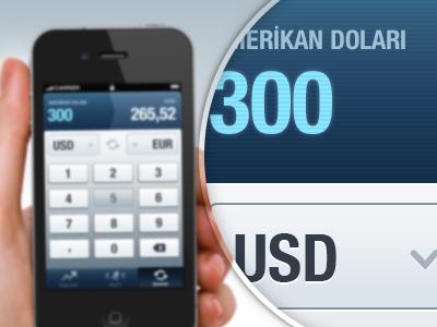 Currency Converter interface ux ui design user interface ui design ux design finance graph blue alarm doviz icon mobile iphone application app ios