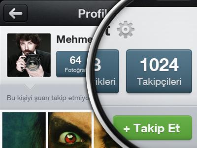 Profile Screen ios app application iphone mobile icon photo filter frame crop dark instagram ux design ui design user interface design ui ux interface