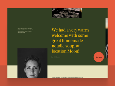 Old Dutch Style - Webdesign desktop design testimonial video serif old green yellow quote slider hover animated aftereffect animation ux ui web webdesigns