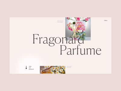 Fragonard 1st Experiment classic pink scent shampoo soap visual web ui