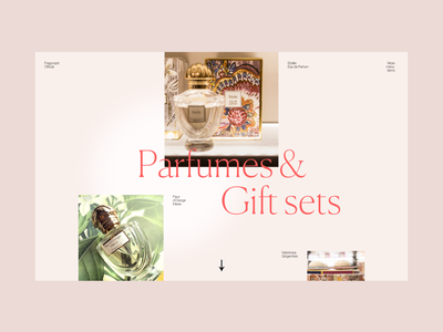 Fragonard Experiment 2 art web design website pink minimal scent parfume classy ui web