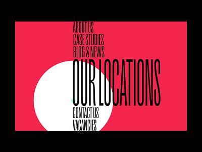 Navigation Menu Animation web webdesign uidesign circles colorful motion ui navigation menu gif video experimental animation