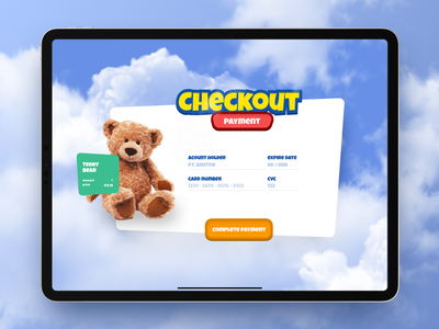 DailyUI #002 - Checkout payment creditcard checkout colorful toystore toystory toys children design