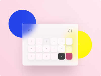 DailyUI #005 - Calculator yellow blue pink dekstop ui dailyui 004 calculator ui dailyui calculator