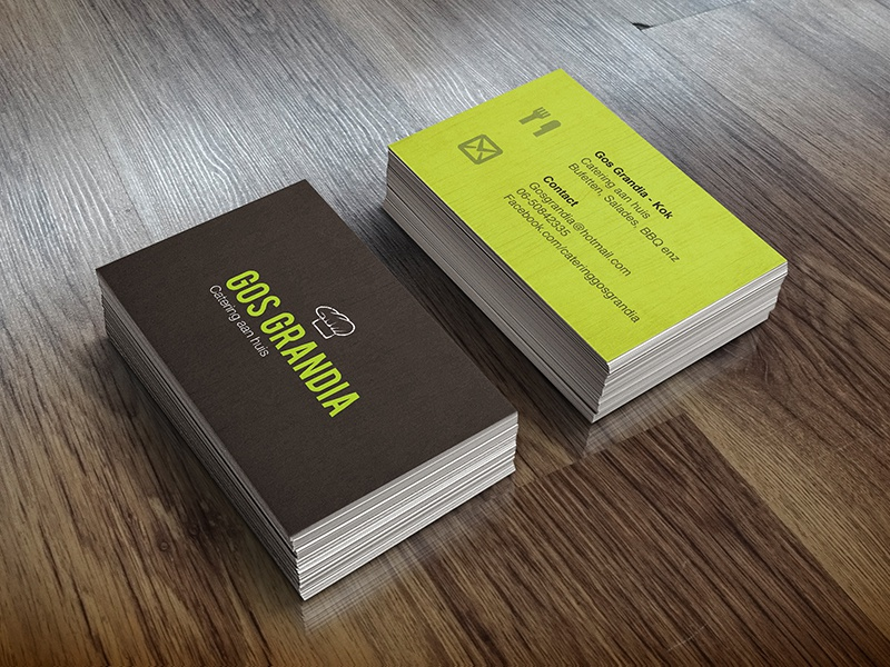 food business cards by mark dribbble