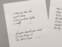 Calligraphy Script