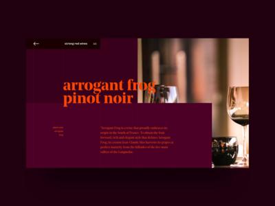 Wine seller webdesign