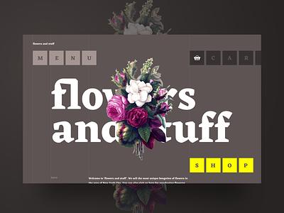 Webdesign Flowers and Stuff creative flowers inspiration desktop interface webdesign ux ui web