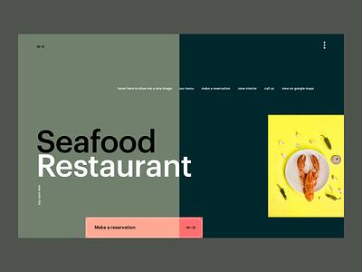 Seafood Restaurant Webdesign interface web design website creative webdesigner digitalart digital inspiration foodie uiux ux web webdesign restaurant food